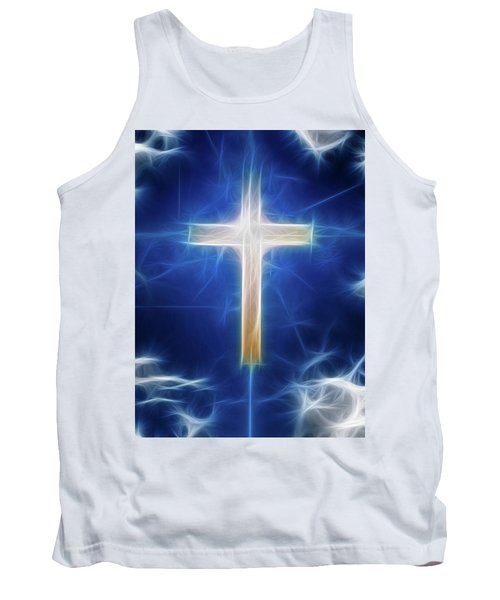 Cross Abstract Tank Top by Bruce Rolff