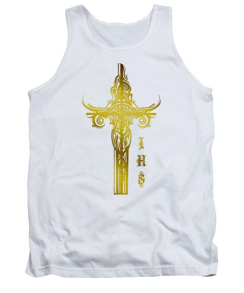 Tank Top featuring the photograph Cross Ihs Gold by Robert G Kernodle