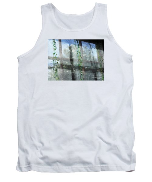 Tank Top featuring the photograph Crosses In The Window by Cheryl Del Toro