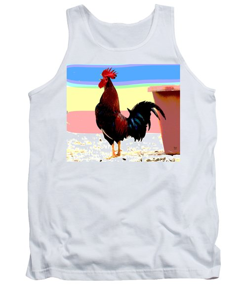 Crowing Cock Tank Top by Charles Shoup