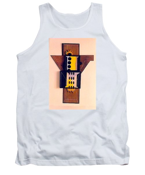 Tank Top featuring the sculpture Crucifiction by Al Goldfarb