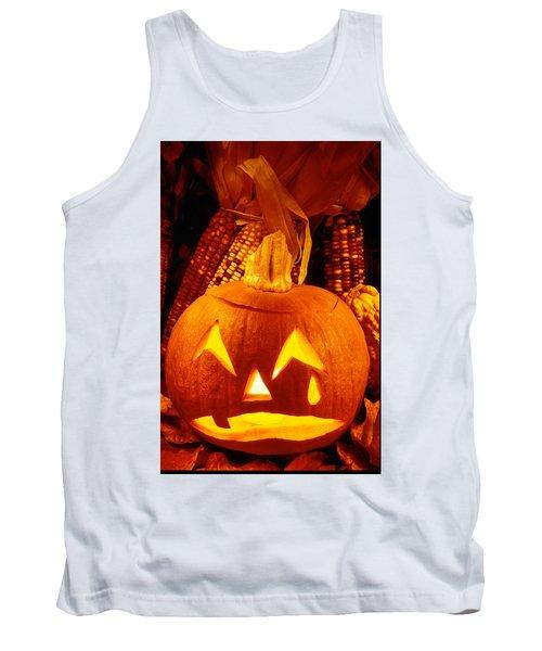 Crying Pumpkin Tank Top