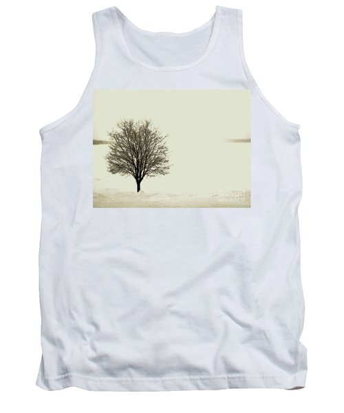 Crystal Lake In Winter Tank Top