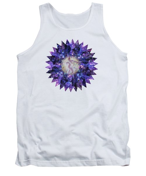 Tank Top featuring the mixed media Crystal Magic Mandala by Leanne Seymour