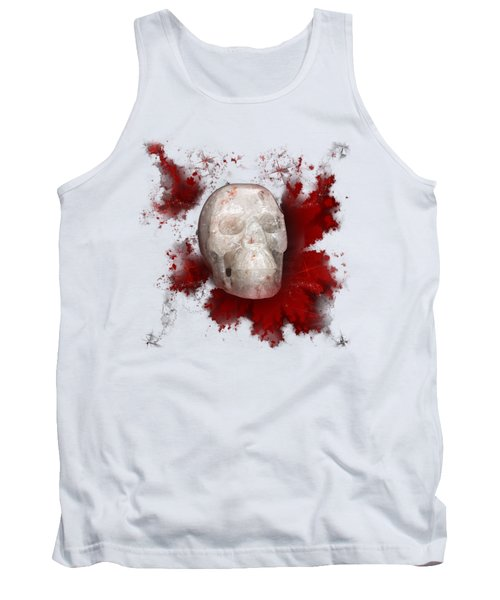 Crystal Skull With Red On Transparent Background Tank Top by Terri Waters