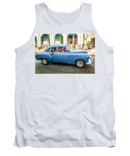Tank Top featuring the photograph Cuban Taxi by Lou Novick