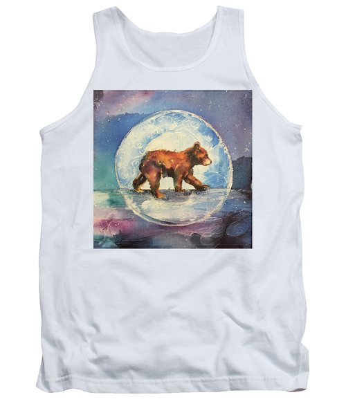 Tank Top featuring the painting Cubbie Bear by Christy Freeman