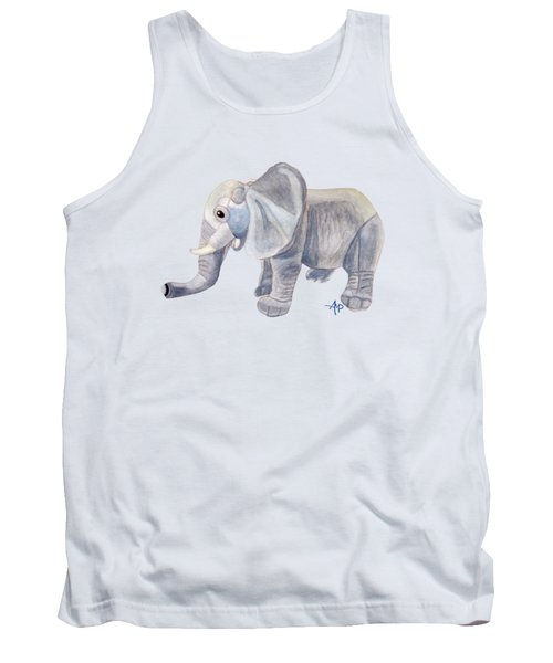 Cuddly Elephant II Tank Top by Angeles M Pomata