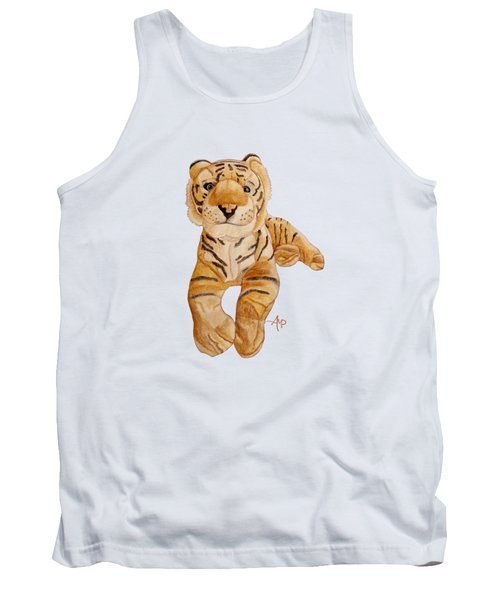 Cuddly Tiger Tank Top by Angeles M Pomata