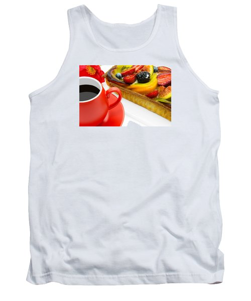 Cup Of Coffee And  Fruit Cake Tank Top