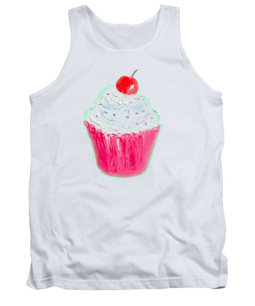 Cupcake Painting Tank Top by Jan Matson