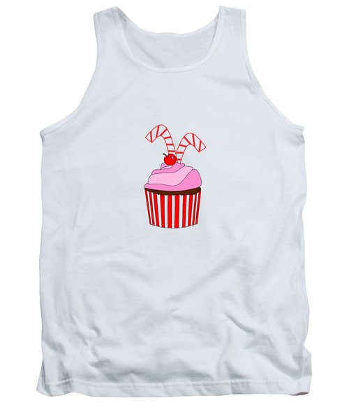 Cupcakes And Candy Canes - Christmas Tank Top