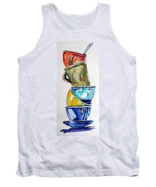 Cups Tank Top by Kovacs Anna Brigitta