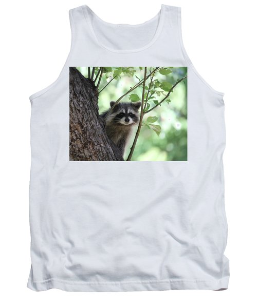 Tank Top featuring the photograph Curious But Cautious by Doris Potter