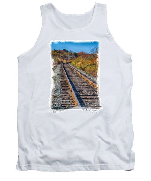 Tank Top featuring the photograph Curved Track by Constantine Gregory