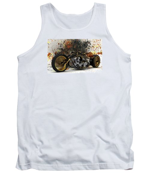 Custom Chopper Gold Tank Top by Louis Ferreira