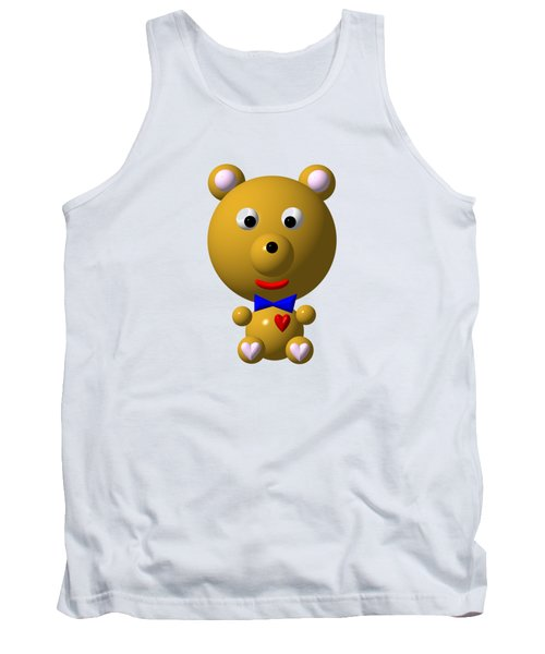 Cute Bear With Bow Tie Tank Top
