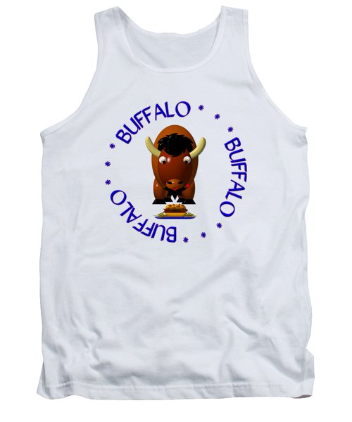 Cute Buffalo With Beef On Weck And Buffalo Wings Tank Top by Rose Santuci-Sofranko