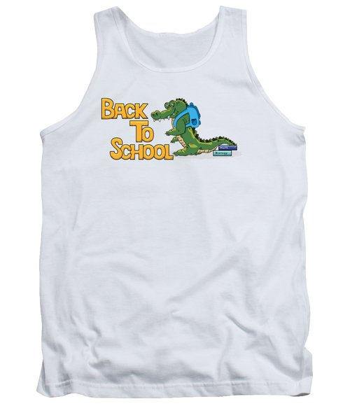 Cute Crocodile With Briefcase Tank Top