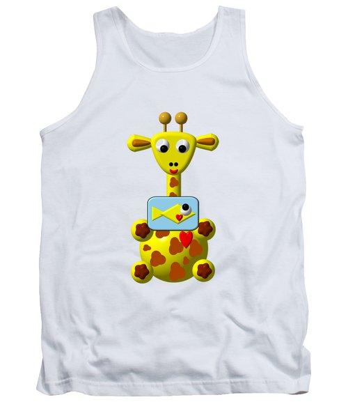 Cute Giraffe With Goldfish Tank Top