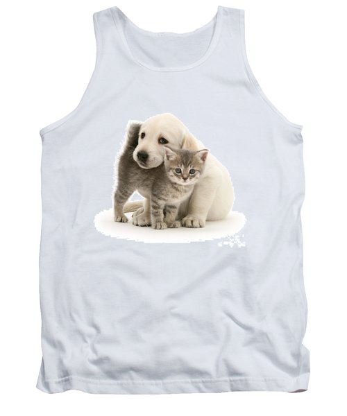 Cute Kitten And Perfect Puppy Tank Top