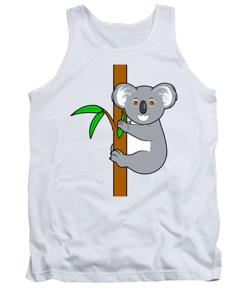 Koala With Eucalyptus Snack Tank Top by A