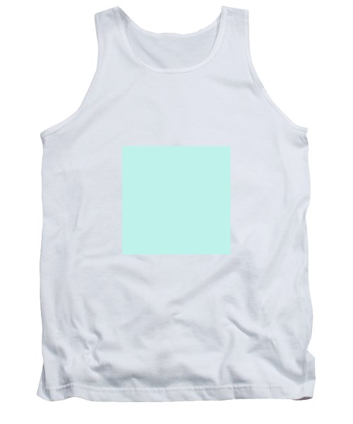 Cyan Ultra Soft Pastels Colour Palette Tank Top