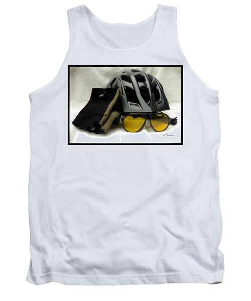 Tank Top featuring the photograph Cycling Gear by James C Thomas