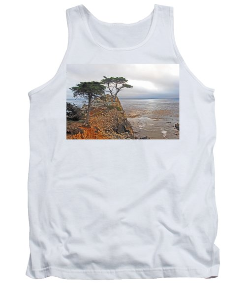 Cypress Tree At Pebble Beach Tank Top