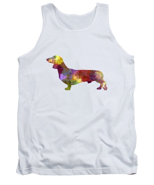 Dachshund In Watercolor Tank Top by Pablo Romero