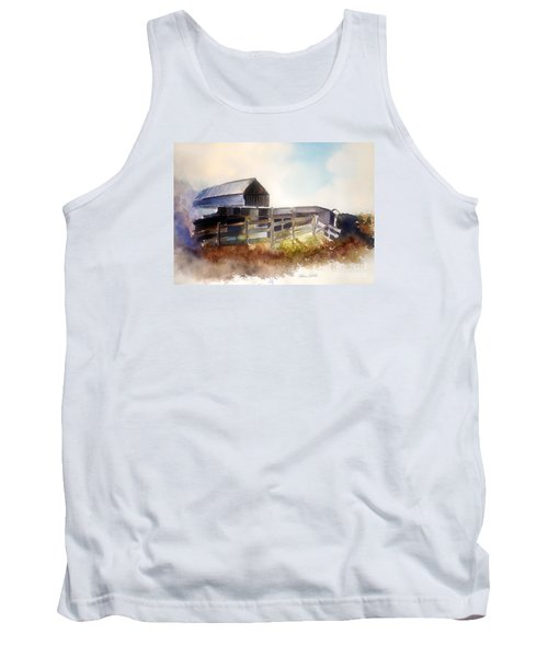 Tank Top featuring the painting Dad' Farmhouse by Allison Ashton