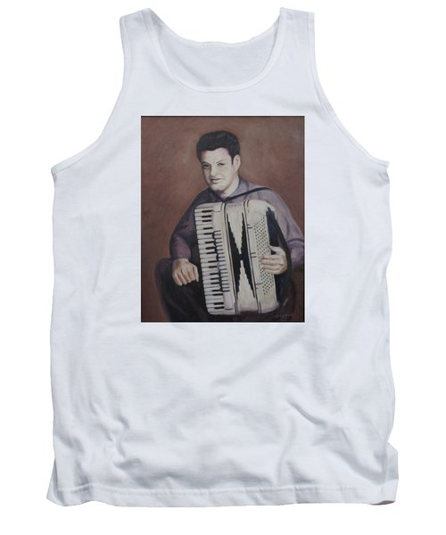 Daddy And His Accordion Tank Top