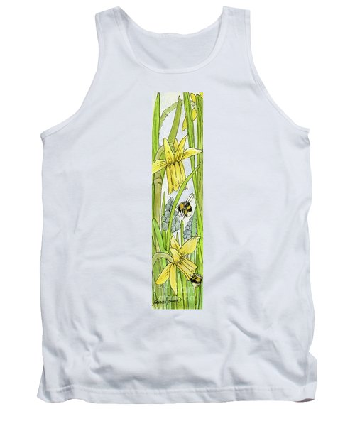 Daffodils And Bees Tank Top