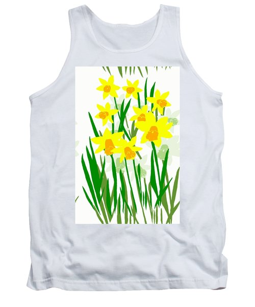Tank Top featuring the digital art Daffodils Drawing by Barbara Moignard