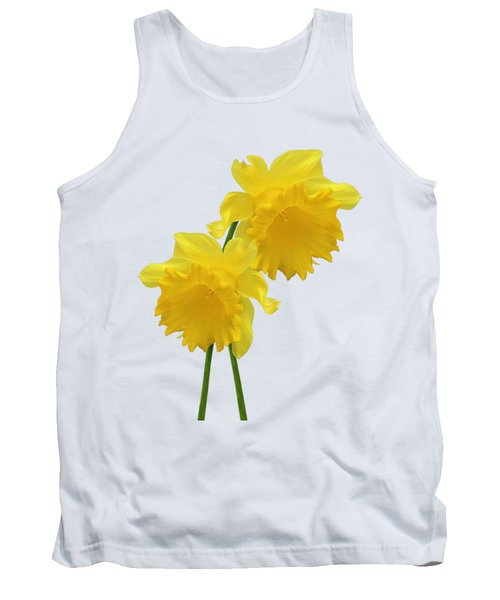 Daffodils On White Tank Top