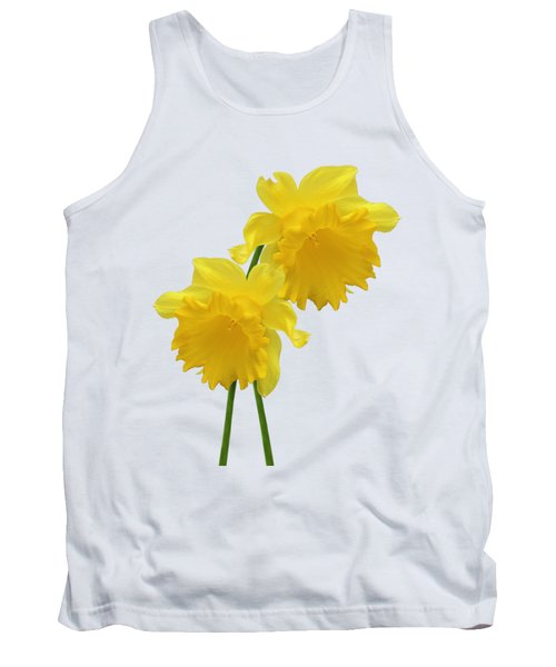 Daffodils On White Tank Top