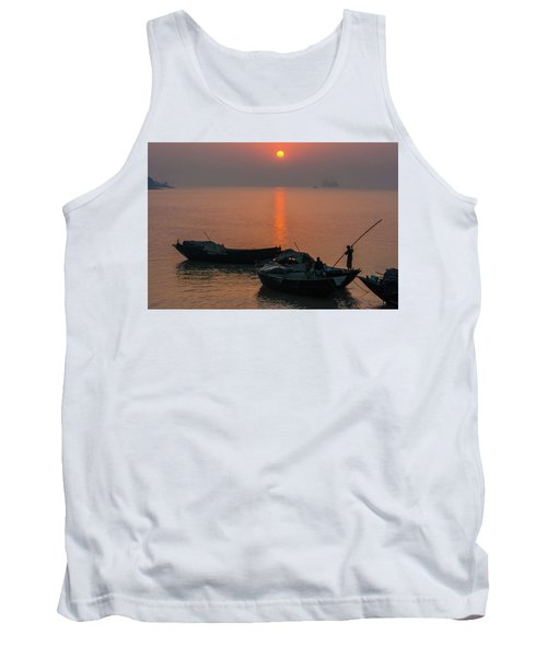 Daily Life Of Boatman Tank Top