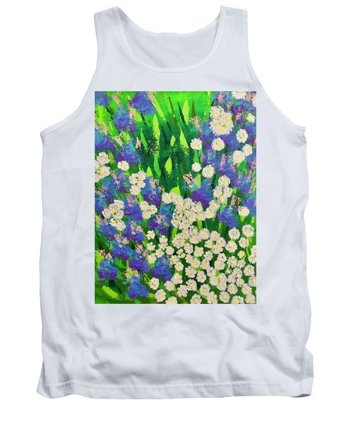 Daisy And Glads Tank Top by George Riney