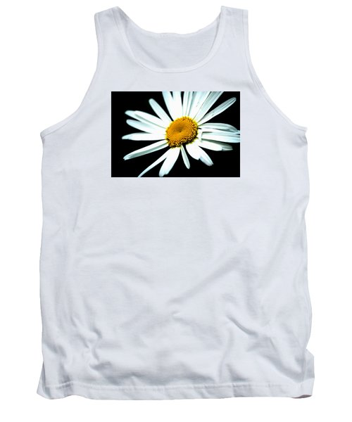 Tank Top featuring the photograph Daisy Flower - White Sun by Alexander Senin