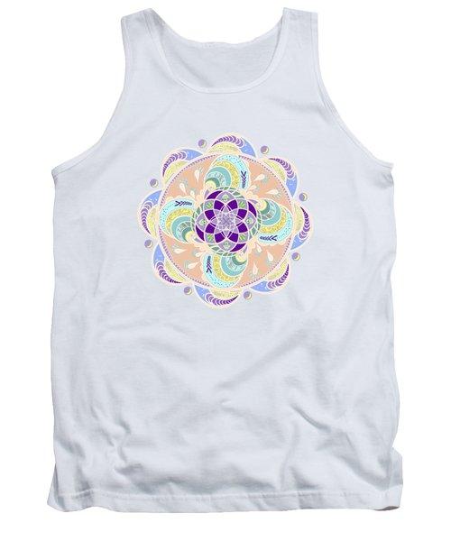Daisy Lotus Meditation Tank Top by Deborah Smith