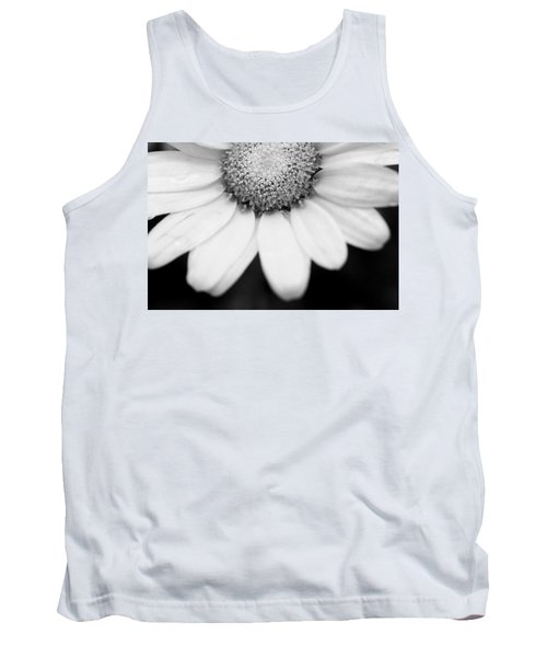 Daisy Smile - Black And White Tank Top