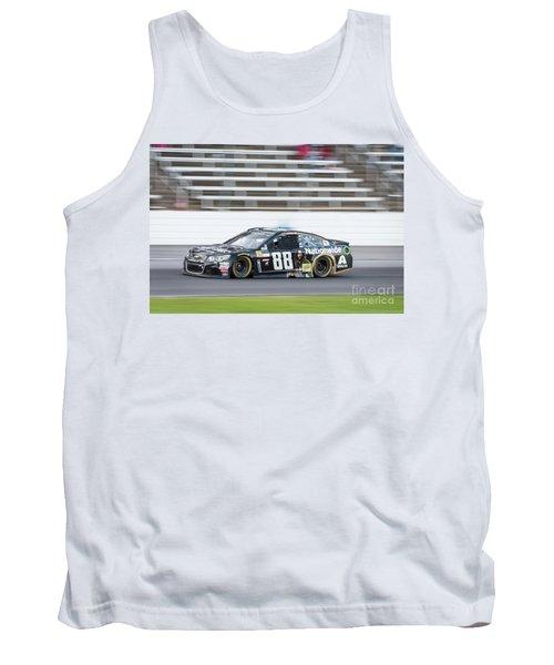 Dale Earnhardt Jr Running Hard At Texas Motor Speedway Tank Top