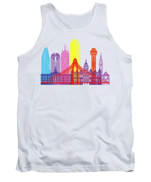 Dallas Skyline Pop Tank Top by Pablo Romero