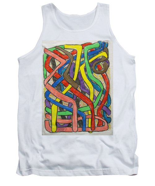 Tank Top featuring the painting London Bus Routes by Mudiama Kammoh