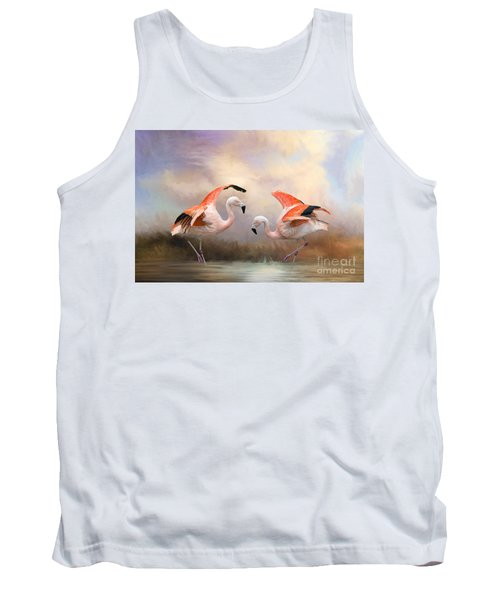 Tank Top featuring the photograph Dance Of The Flamingos  by Bonnie Barry