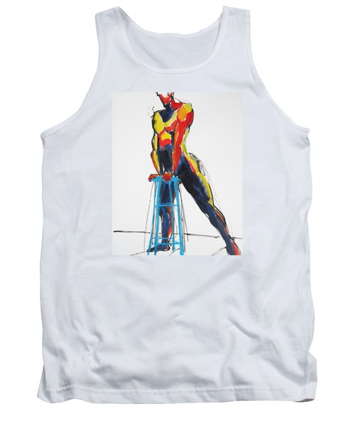 Dancer With Drafting Stool Tank Top by Shungaboy X