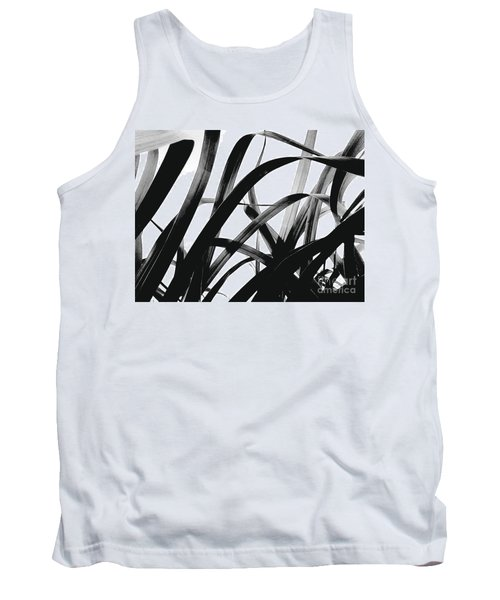 Tank Top featuring the photograph Dancing Bamboo Black And White by Rebecca Harman
