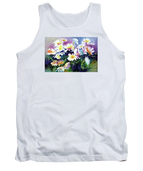 Tank Top featuring the painting Dancing Daisies by Kathy Braud