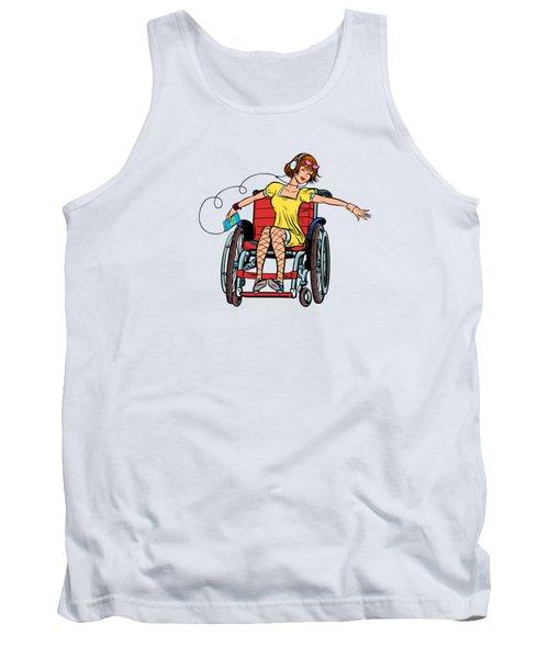 Dancing Girl In A Wheelchair Tank Top