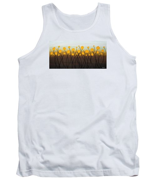 Tank Top featuring the painting Dancing Tulips by Carmen Guedez